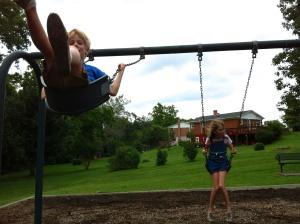 Swingin' sibs.